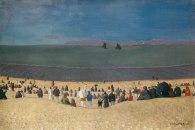 Félix_Vallotton,_La_plage_à_Honfleur,_1919._Oil_on_canvas,_54_x_81_cm.