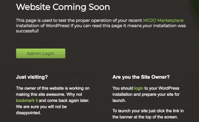 wordpress website coming soon