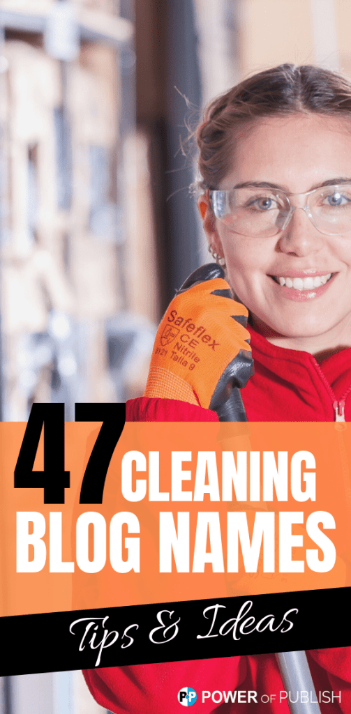 cleaning blogging names