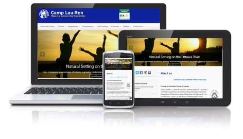 Web Site dsigned in WordPress for the camp by PowerPages.ca