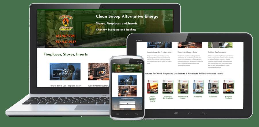 Clean Sweep PowerPages Stittsville Web Design Kanata Ottawa website