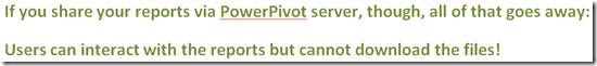 PowerPivot Server Interaction Model