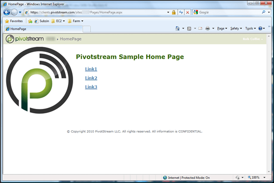 Pivotstream HomePage Theme 1