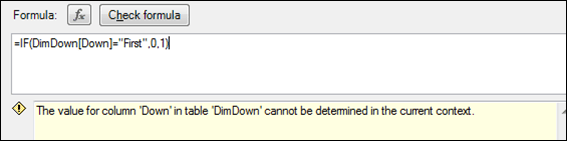 PowerPivot Error Value for Column Cannot be Determined in the Current Context