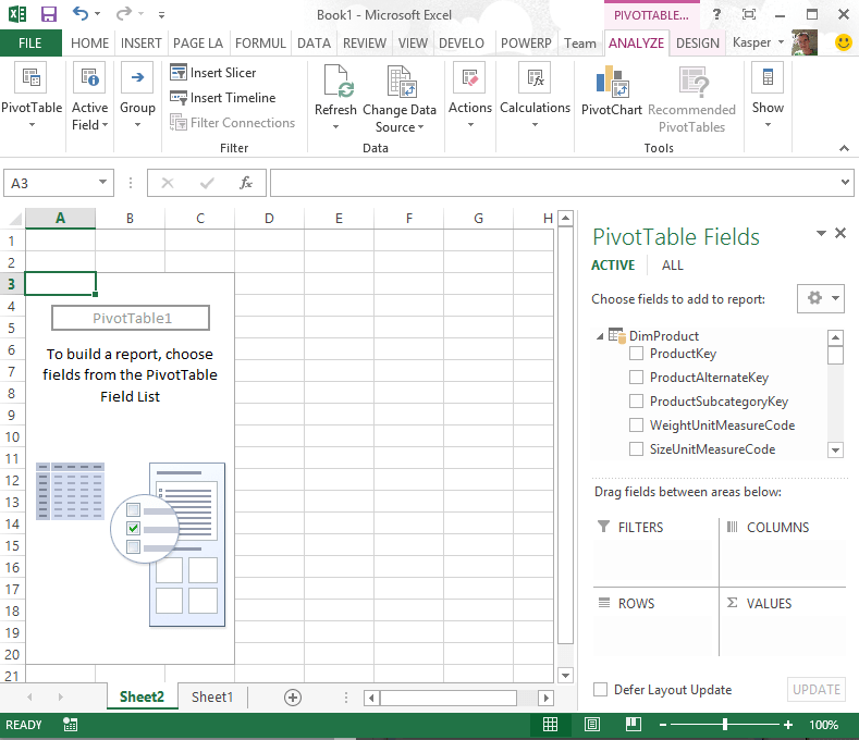Implementing a Dynamic Top X via slicers in Excel 2013 using
