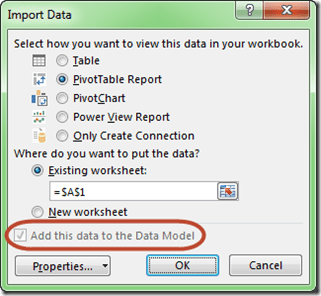 AccessMultiple Table Import Data Model Only Highlighted
