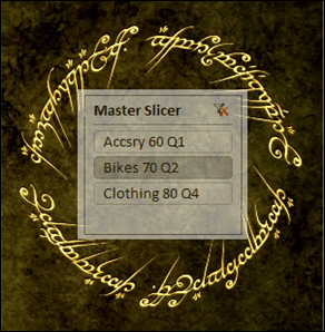"One Slicer That ""Controls"" Other Slicers.  Multiple slicers ""get set"" when the user makes one click."