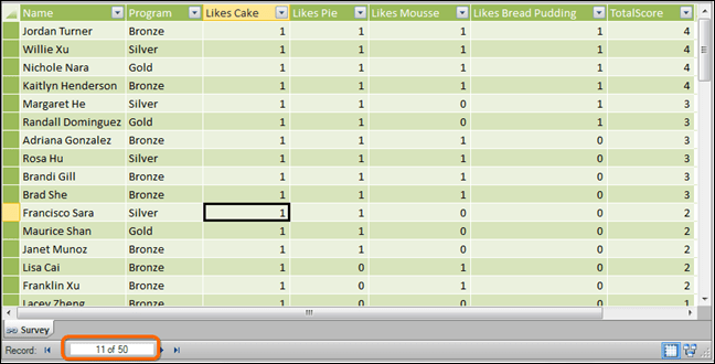 PowerPivot is ALSO good for SMALL Data Sets, like this Survey Data