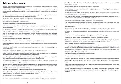 PowerPivot Book Acknowledgements