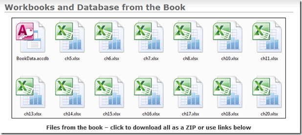 PowerPivot Book Sample Files