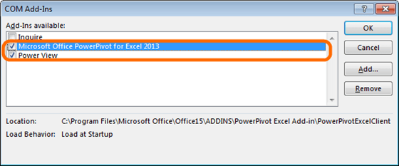PowerPivot and Power View Not Available in Excel 2013?