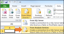 Excel Data from Analysis Services