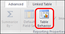 Power Pivot Table Behavior