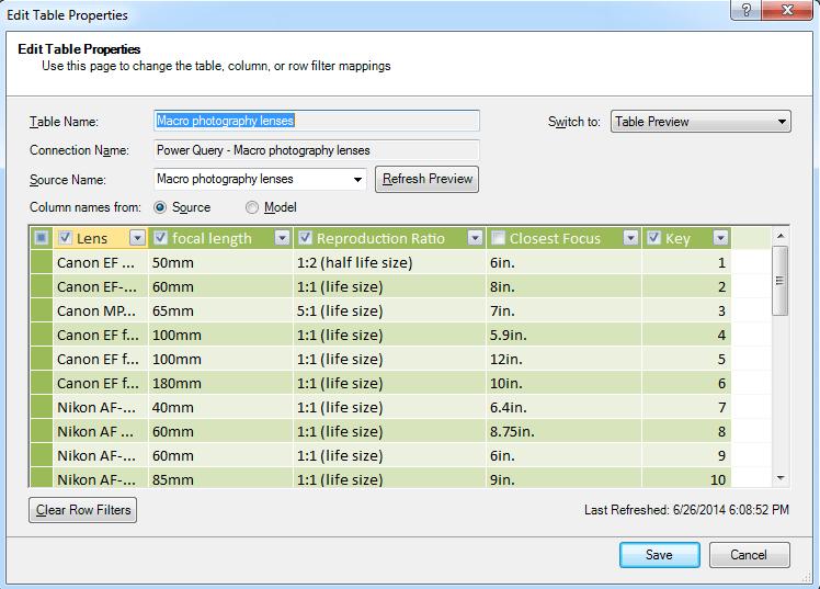 Power Pivot add hidden columns to model
