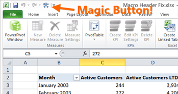 A Magic Button for Formatting Your Pivots