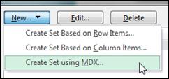 Create Set Using MDX