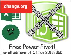 Change.org Free Power Pivot!