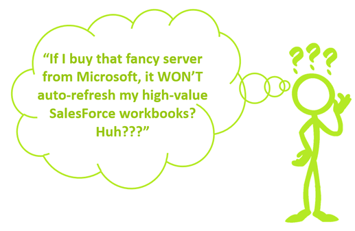 Power Query Won't Refresh on the Server, Except in Power BI Online