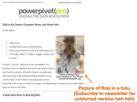 PowerPivotPro Newsletter 001