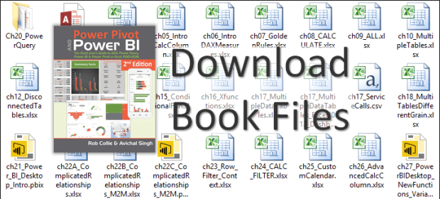 Workbooks and Database from the Book - PowerPivotPro