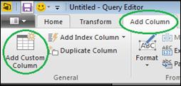 On the Add Column tab - add a Custom Column