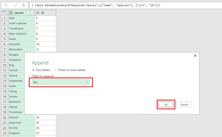 Power Query Step