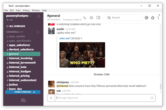 Slack is Supported by the Slack Team. Power Update is Supported by the Power Update Team.