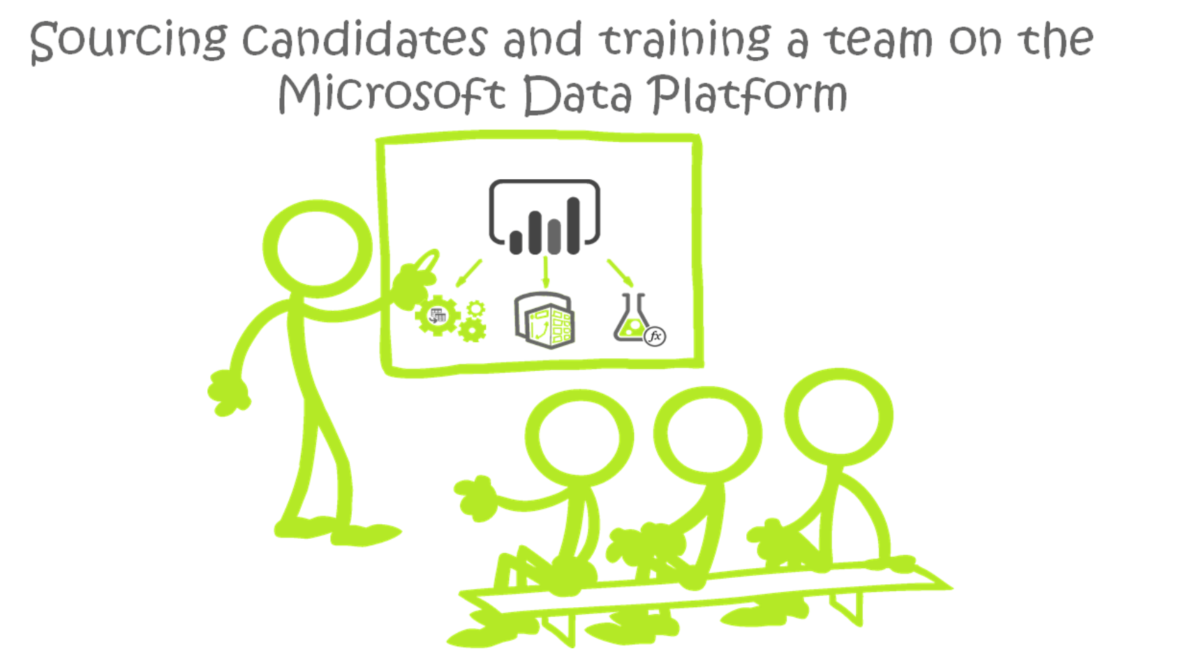 Sourcing candidates and training a team on the Microsoft Data