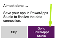 Go To PowerApps Studio