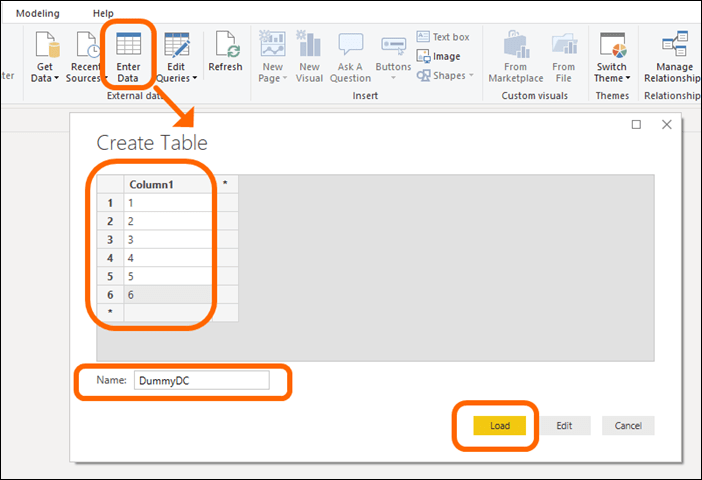 Power BI's Enter Data Button: Great for Disconnected Tables Like This