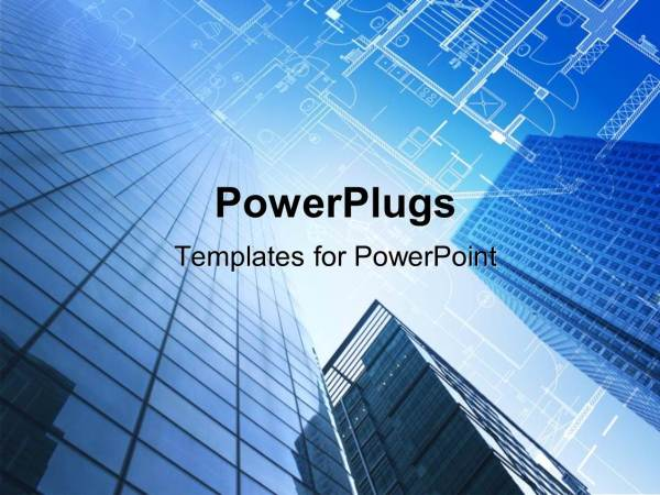 Powerpoint Template Architectural Design And Floor Plan