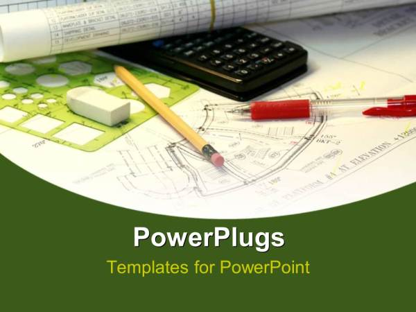 Powerpoint Template Engineering Sketch With Black