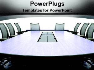 powerpoint conference meeting office template building grey team communication chairs templates background conferencetable ppt slide business table boardroom title displaying