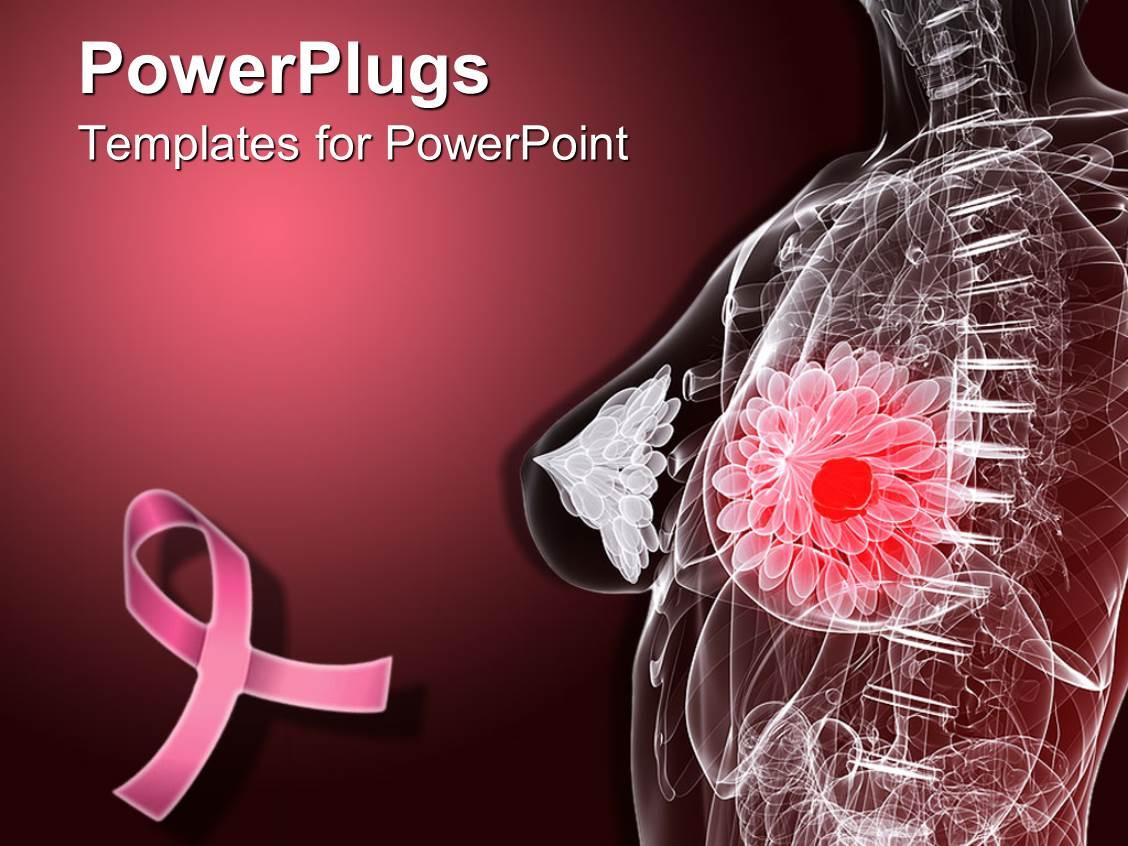 Powerpoint Template Imaginative Female Anatomy Depicting
