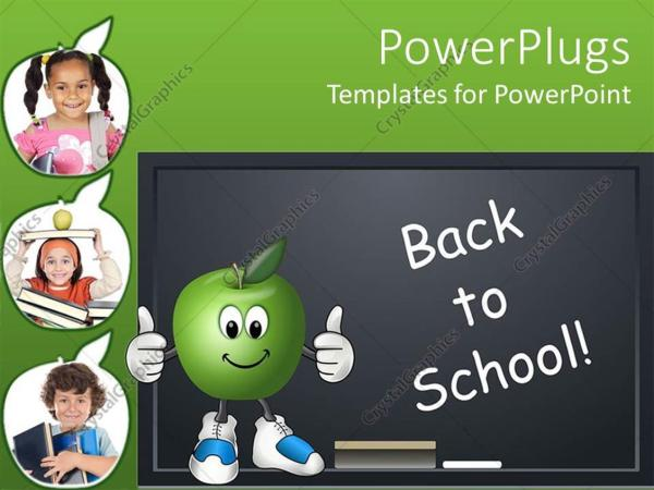 Powerpoint Template Education School Theme With