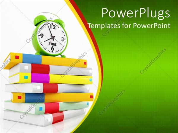 Powerpoint Template Education Theme With Colored