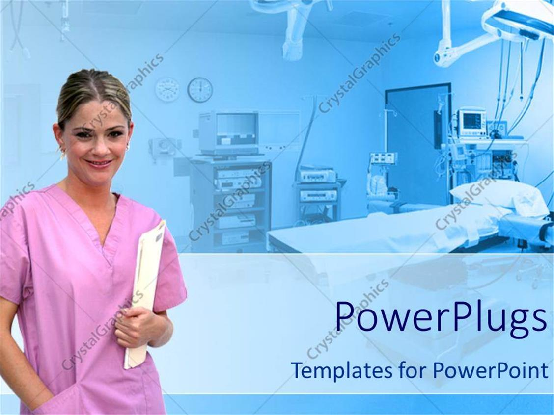 hospital wiring diagram ppt coleman mobile home furnace powerpoint template healthcare theme with smiling nurse
