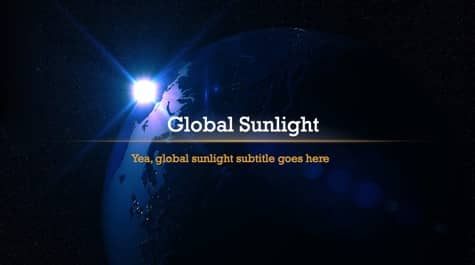 Dark Global Sunlight PowerPoint Background 1 Black PowerPoint Backgrounds