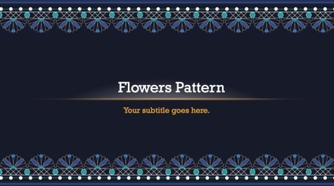 Seamless Flowers Pattern PowerPoint Background 1 Floral PowerPoint Backgrounds