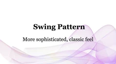 Simple Swing Pattern PowerPoint Background 1 Pink PowerPoint Backgrounds