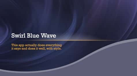 Swirly Blue Waves PowerPoint Background 1 Blue PowerPoint Backgrounds