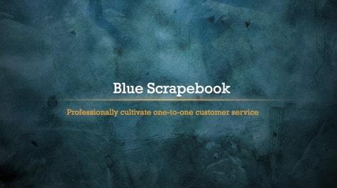 Blue Vintage ScrapeBook PowerPoint Background 1 Blue PowerPoint Backgrounds