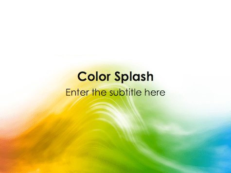 Color Splash PowerPoint Background Colorful PowerPoint Backgrounds