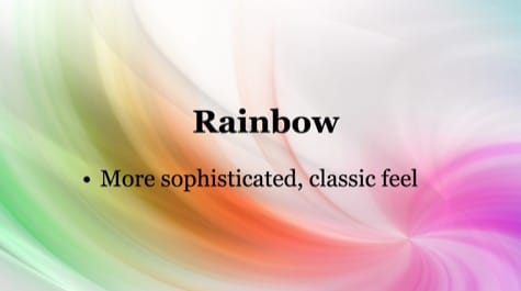Colorful Rainbow PowerPoint Background 1 Colorful PowerPoint Backgrounds