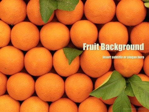 Fruit Background PowerPoint Orange PowerPoint Backgrounds