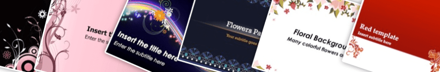 Floral PowerPoint Backgrounds Home
