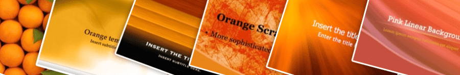 Orange PowerPoint Backgrounds Home