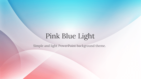 Pink Blue Light Simple PowerPoint Backgrounds