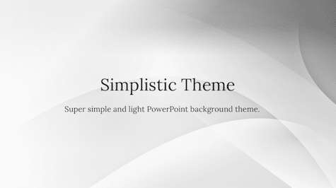 Simplistic Background Simple PowerPoint Backgrounds