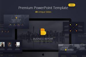 Business Report Pro Free Powerpoint Template